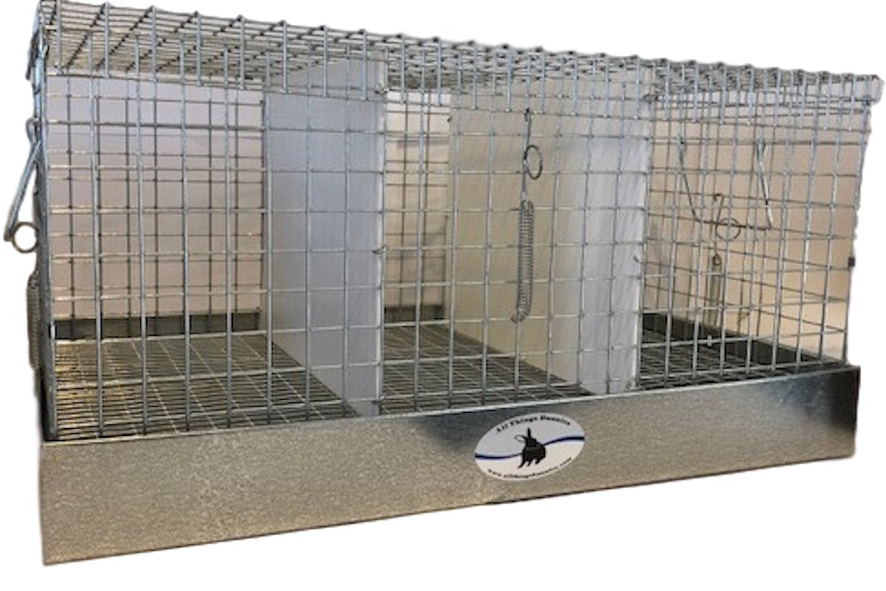 All Things Bunnies Rabbit Carrier/Transport Cage - 3 Hole (14x24x12)