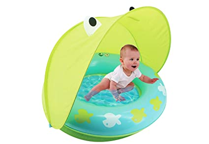 Hoovy Froggy Sun Protection Pool | Indoor & Outdoor Baby Play Gear | Toys  for Newborn | Mini Swimming Accessories for Kids and Toddlers | Best Gift  ...