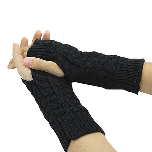 Amazon.com: Fingerless Gloves Short Sleeve Crochet Arm Warmers ...