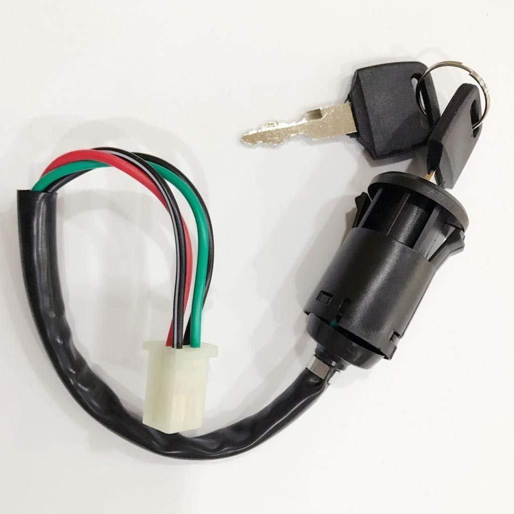 Sgerste For Yamaha Honda Suzuki 4 Wire Ignition Key Barrel Switch 2 Wiring A X Keys Quad Atv Bike