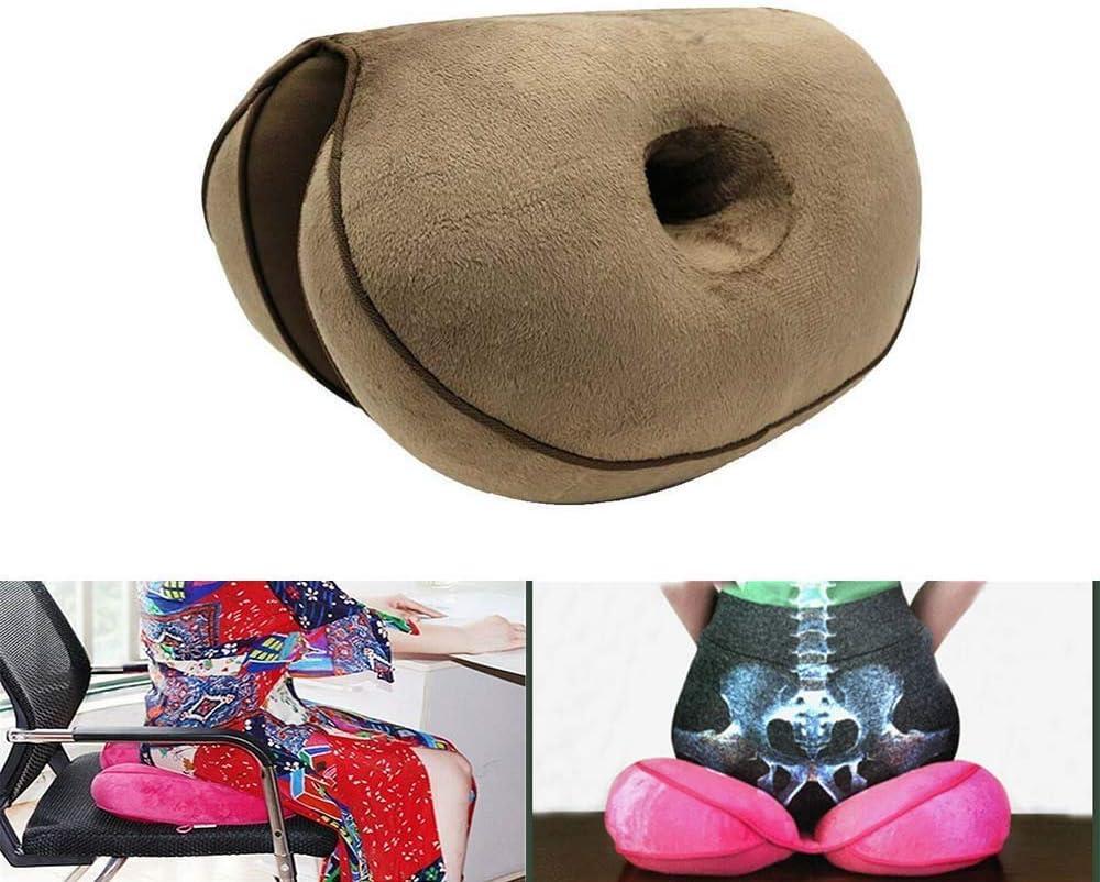 MFLB Cojín Dual Comfort Cushion Lift Hips Up, cojín ortopédico de Espuma viscoelástica para el Dolor Lumbar, Alivio de la presión del Dolor de la Cola, la ciá