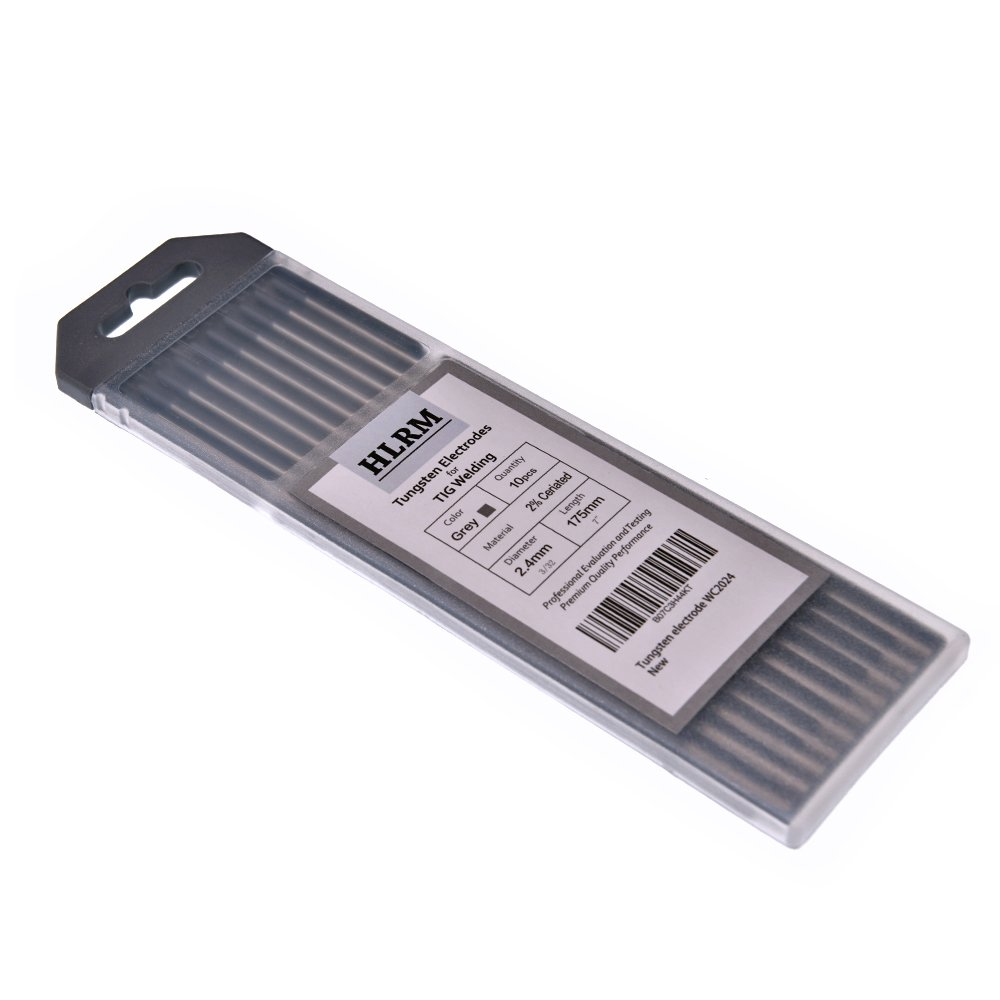 HLRM TIG Welding Tungsten Electrode 2% Ceriated Tungsten 3/32' x 7' 10 Pcs (Grey, WC2024)