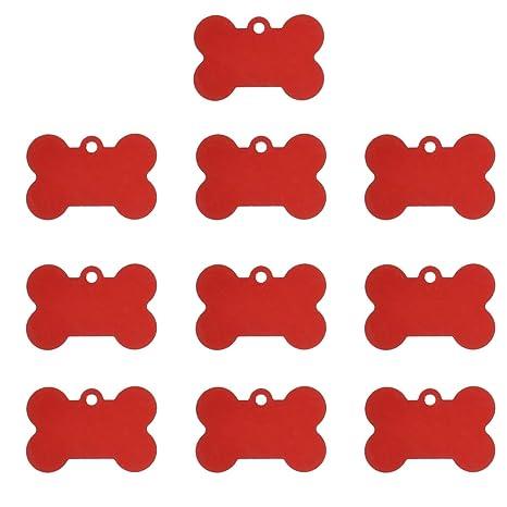 POPETPOP 20 Piezas Placa Identificativa para Perros ...