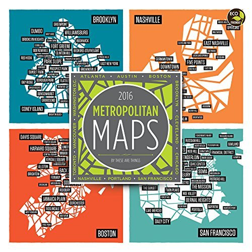 2016 Metropolitan Maps Wall Calendar by These Are Things (2015-08-10)