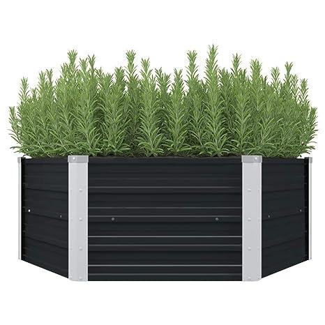 vidaXL - Jardinera Alta para jardín, Jardinera, semillero ...