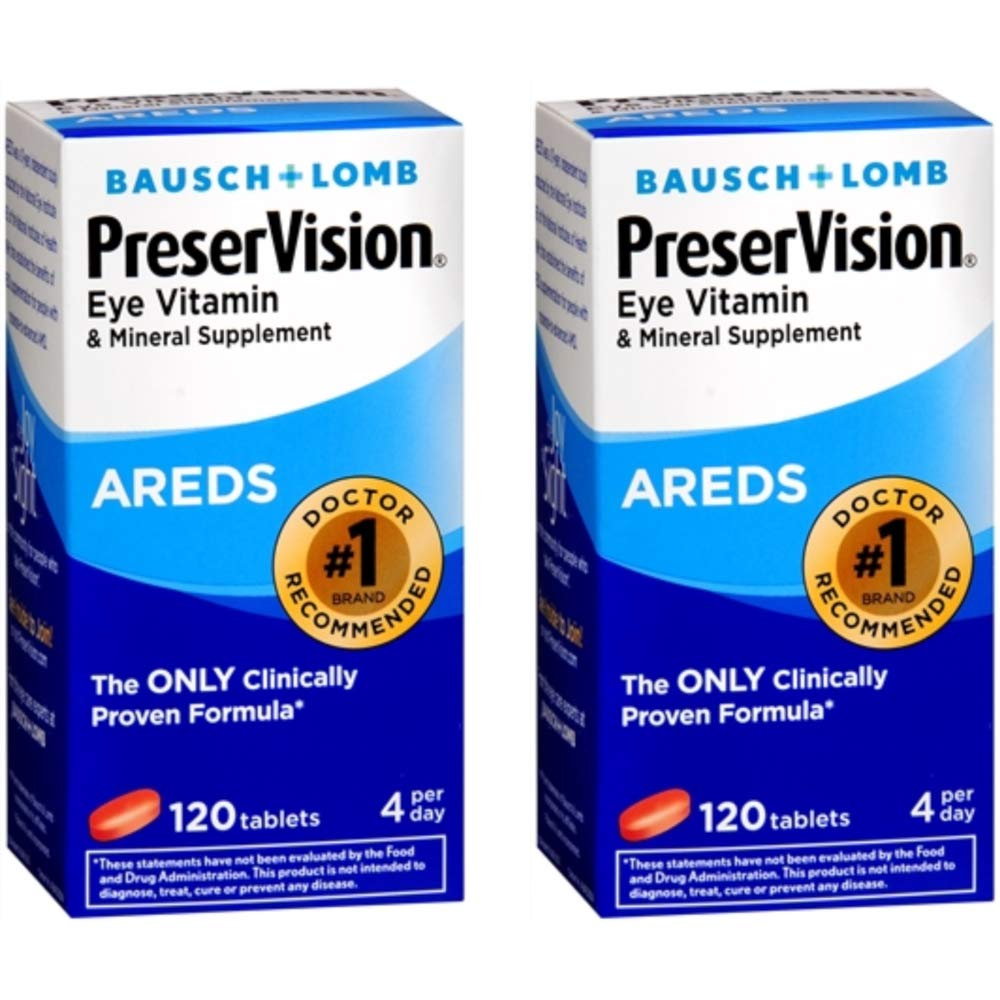 Ocuvite Preservision Tablets, 120 tablets (Pack of 2)
