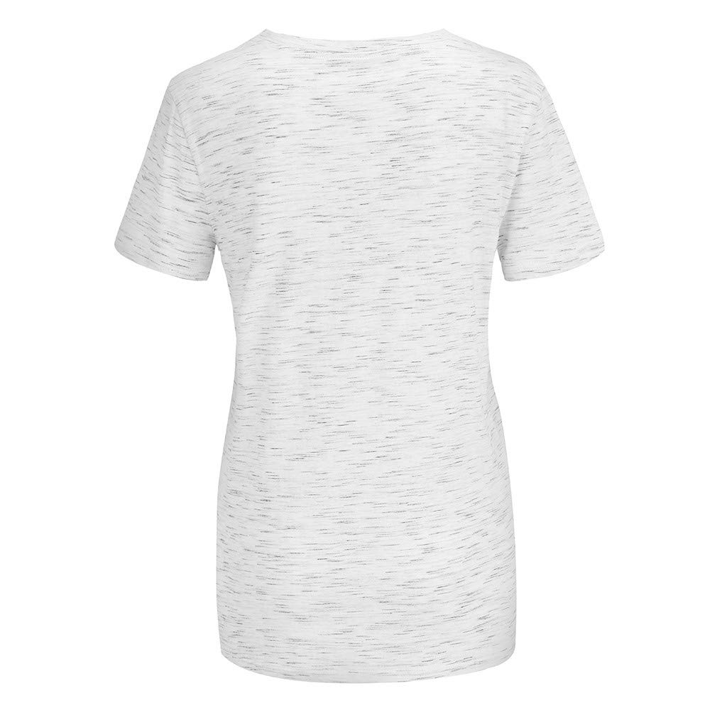 Womens July 4th American Flag Tops Blouse Summer Short Sleeve Patriotic T Shirt