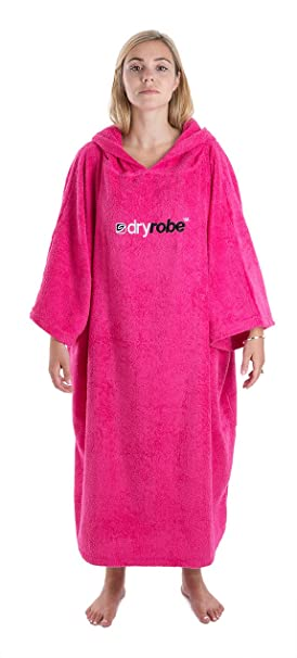 7185304250 Dryrobe Adult Beach Towel Changing Robe - Short Sleeve Towelling Change  Poncho Dry Robe One