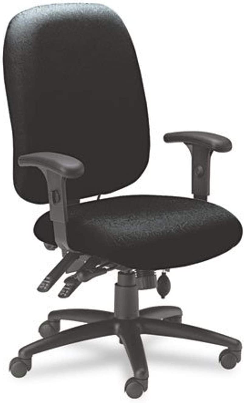 Mayline 24-Hour High-Performance Task Chair with Arms, Black