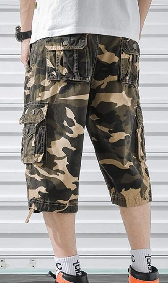 X-Future Men Rugged Multi Pockets Casual Sports Camouflage Cargo Shorts