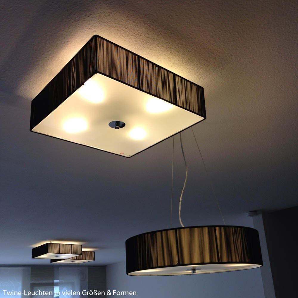 deckenlampe stoffschirm details with deckenlampe. Black Bedroom Furniture Sets. Home Design Ideas