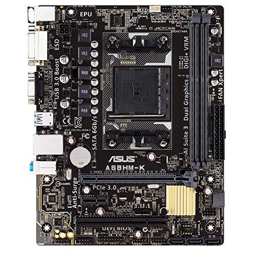 ASUS A68HM-K AMD FM2+ A68H HD7000/8000 DDR3 32GB PCI-Express SATA USB mATX Motherboard (ASUSA68HM-K)