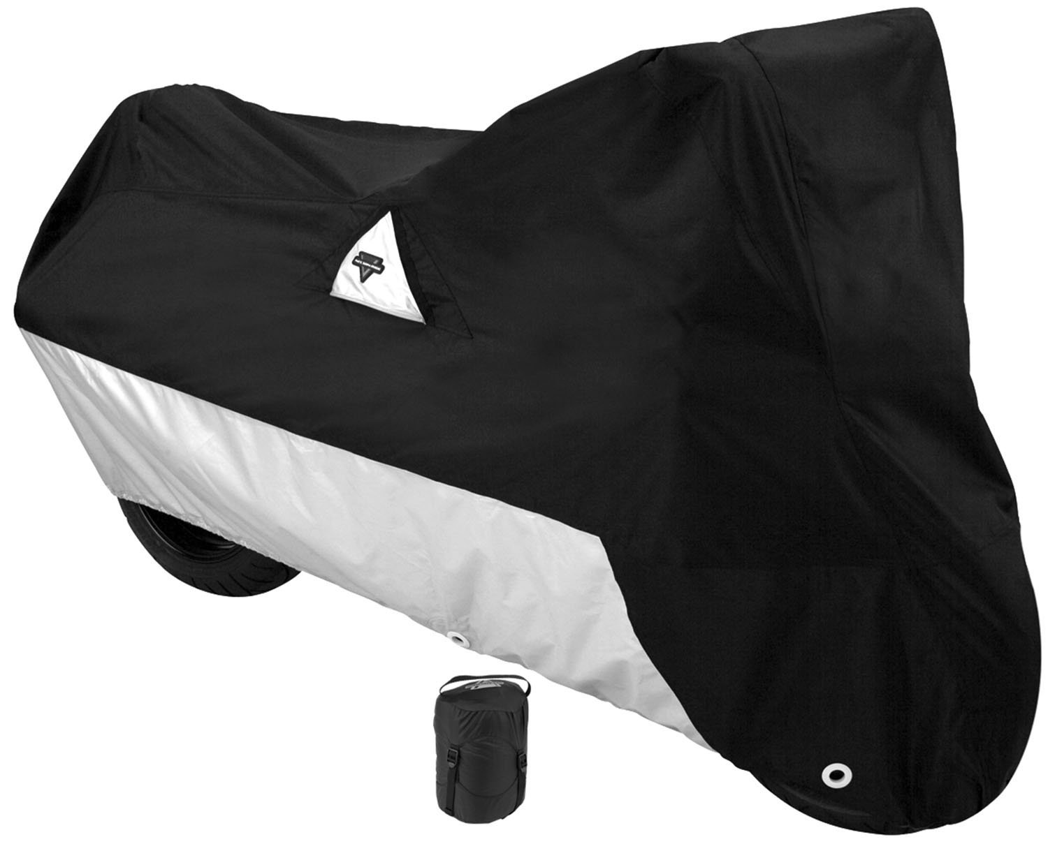 Nelson-Rigg Defender 2000 Motorcycle Cover, All-Weather, Waterproof, UV, Air Vents, Heat Shield, Windshield Liner, Compression Bag, Grommets, Large Fits most Sport Touring and Cruisers