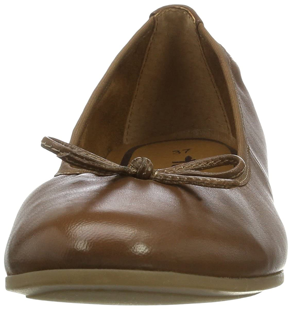 Tamaris Damen Ballerinas 22116 Geschlossene Ballerinas Damen Braun (Cognac 305) 9505bd