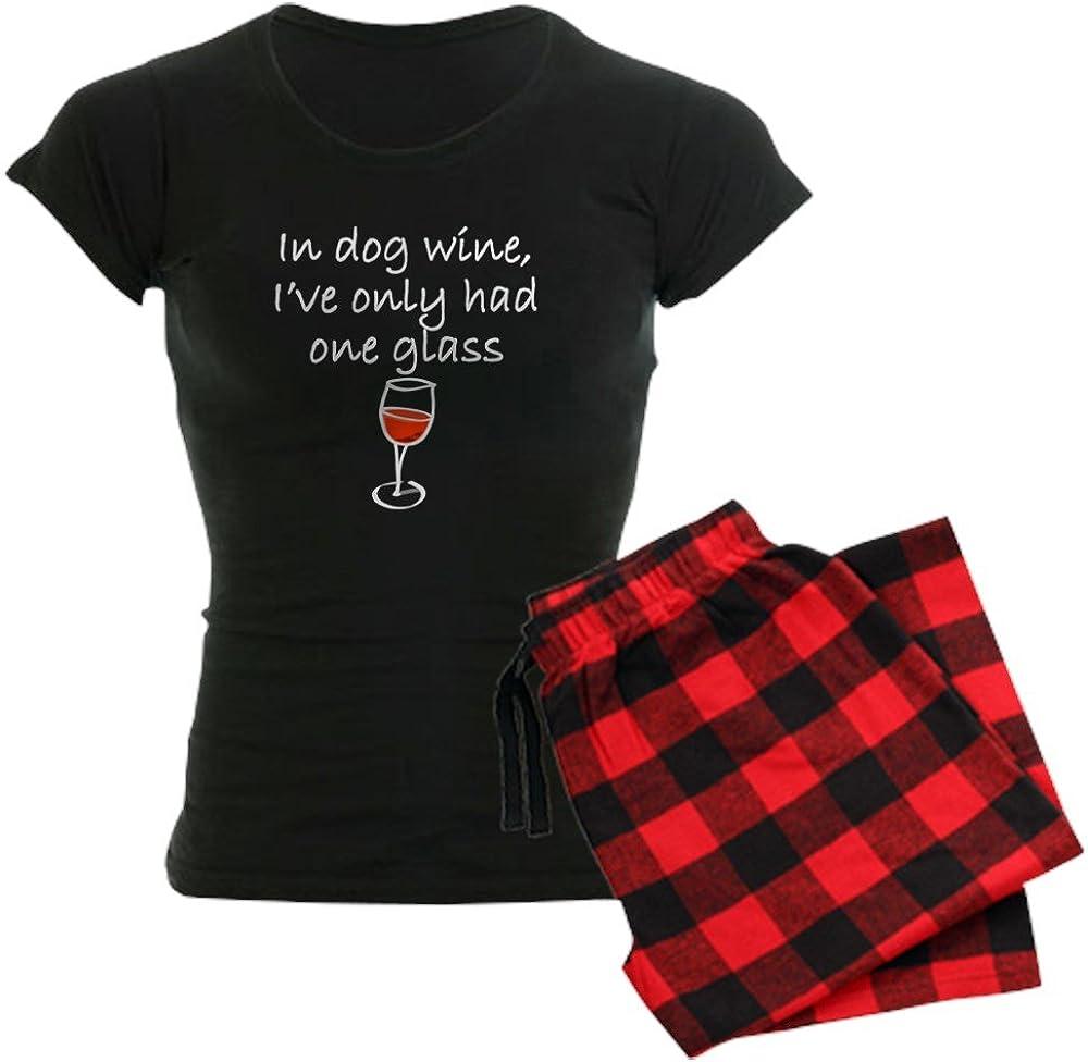 CafePress in Dog Wine Pajamas Womens PJs