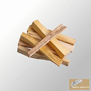 Limited Time Bonus Pack: Special Shippingprice: Holy wood Sticks Palo Santo (Bursera graveolens) 6 pieces -Native Spirit® Quality -. length approx. 3,5 Inches (9,5 x1x1 cm, 5-7grs ea.) sustainable harvested from fallen trees with a portion of sales dedicated to replanting.