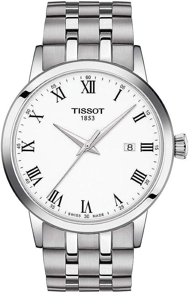 Tissot orologio Classic Dream 42mm Bianco quarzo Acciaio T129.410.11.013.00