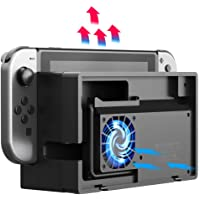 External Cooling Fan compatible with Nintendo Switch Dock Set - ElecGear Turbo Cooler for NS Original Docking Station…