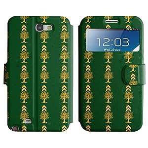 LEOCASE Funda Carcasa Cuero Tapa Case Para Samsung Galaxy Note 2 N7100 No.1007664