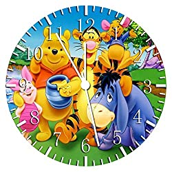 Winnie The Pooh Borderless Frameless Wall Clock W198 Nice For Decor Or Gifts