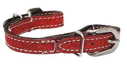 Showman Braided Leather Curb Strap w//Buckles