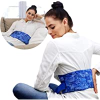 Hot Pockets Back Heating Pad for Lower Back Pain Relief - Washable and Microwavable Heat Wrap with Secure to Body Strap…