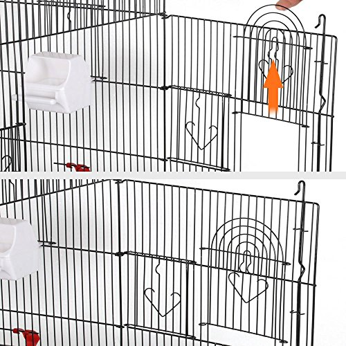 Yaheetech 36'' Metal Bird Cage Parrot Finch Cage Macaw Cockatoo Pet Play w/Perch Stand by Yaheetech (Image #5)