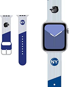 Baseball/Softball Design Compatible with Apple Watch Band 38mm 40mm 42mm 44mm,New York Baseball Team Striped Sports accessoires Wristband for Men Women Kids Boys iWatch SE Series 6/5/4/3/2/1