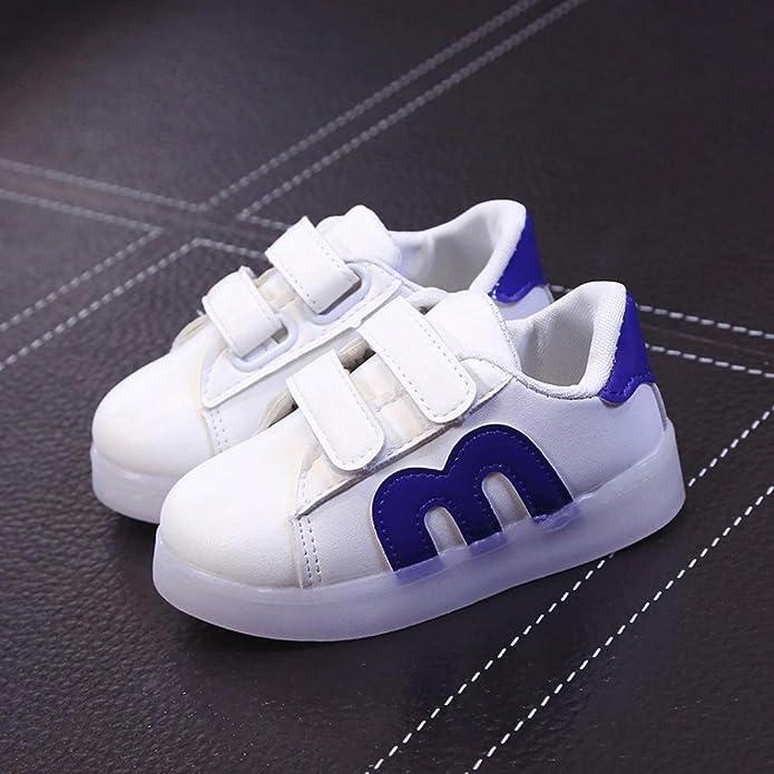 TTMall Bambino Bambini Pattini del Pattino Pattini del Bambino Luce del LED su Sneakers Luminose (4-4.5T, oro)