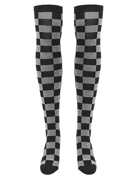 Urban Classics Ladies Checkerboard Overknee Socks, Calcetines para Mujer: Amazon.es: Ropa y accesorios