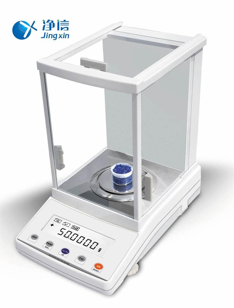 Jingxin Technology 210g/0.1mg Digital Precision Electronic Analytical Balance Weighing Scale Scientific Laboratory LCD Display Instrument FA2104N