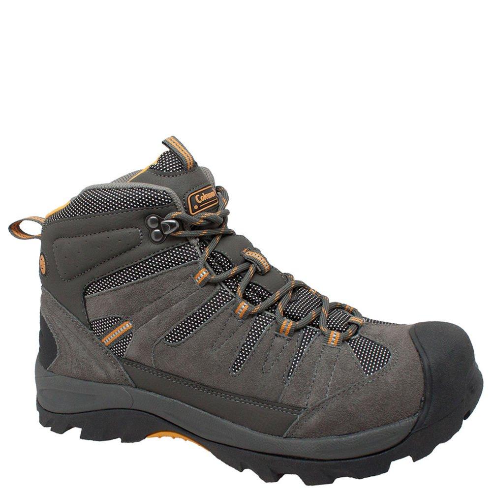 Coleman Mens COLORADO Grey Suede Leather Soft Toe Hiker Shoe COLORADO-10.5D