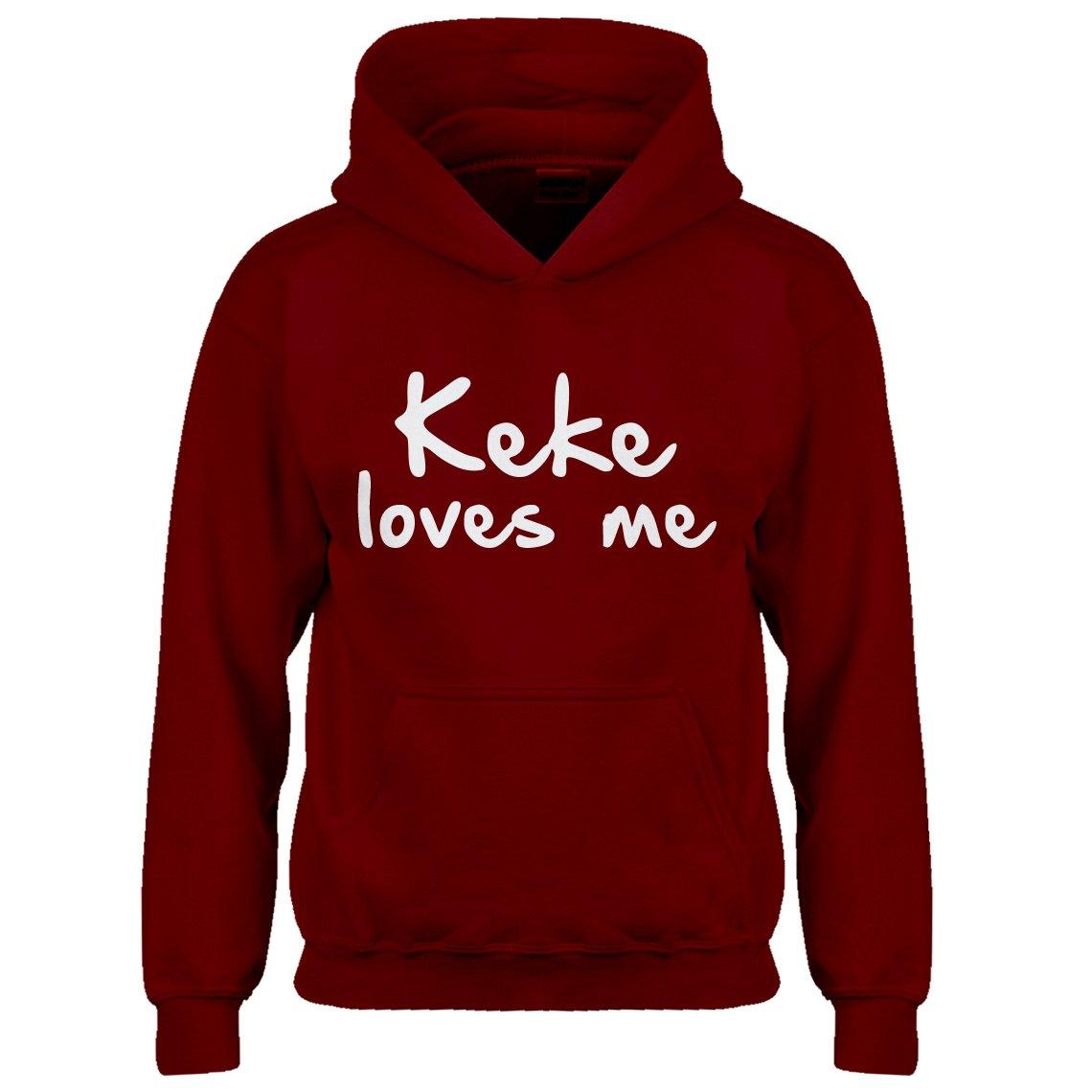 Kids Hoodie Keke Loves Me Small Red Hoodie