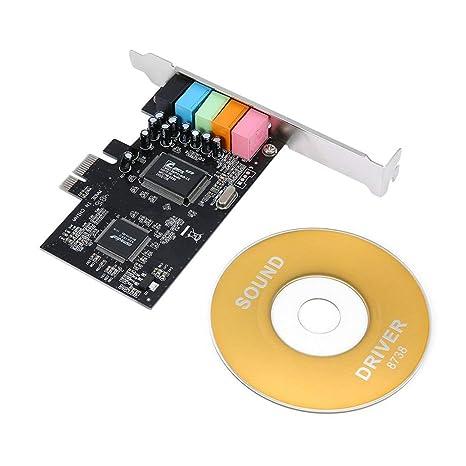 ZinESaya Tarjeta de Sonido de Audio PCI-E Express 5.1ch ...