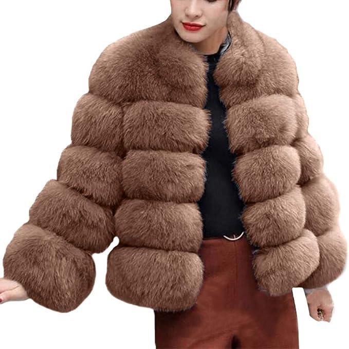 Darringls Chaqueta Mujer Invierno, Abrigos Elegantes imitación de Piel Abrigo Más Terciopelo Parka cálido: Amazon.es: Ropa y accesorios