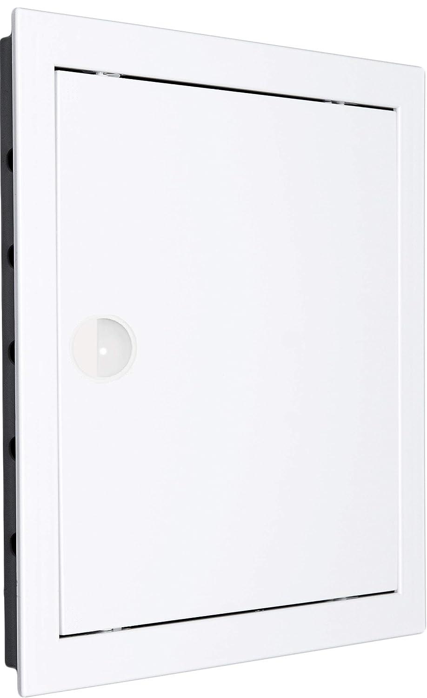 20/cm x 20/cm Tapa para revisi/ón pladur Revisi/ón Chapa de acero color blanco Awenta