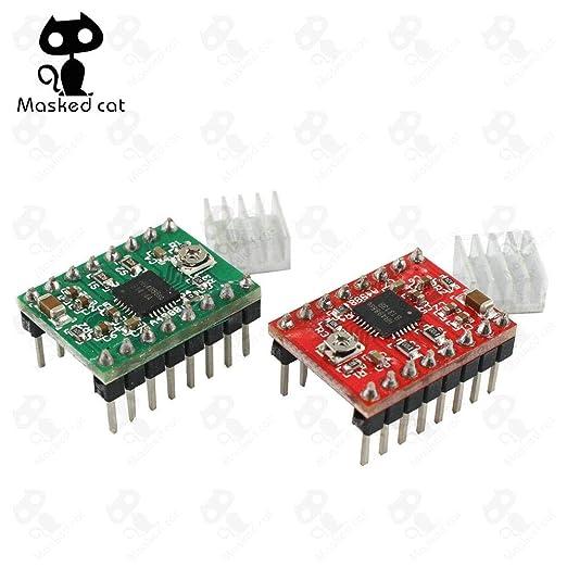 Impresora 3D – 50 unidades/lote A4988 disipador de calor motor ...