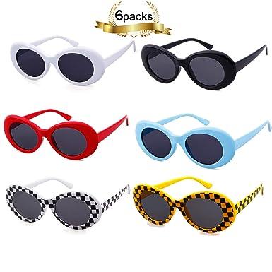 64a8648af4 SORVINO Sunglasses Unisex Kurt Cobain Glasses Bold Retro Oval Mod Clout  Goggles(6 pack)