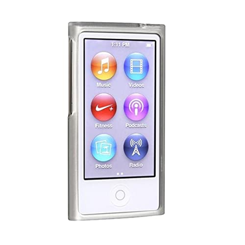 TOOGOO(R) TPU Rubber Skin Case compatible with Apple iPod nano 7th Generation, Frost Clear White