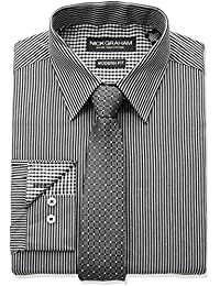 "<span class=""a-offscreen"">[Sponsored]</span>Men's Fine Line Stripe Dress Shirt with Geo Dot Tie Set"