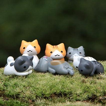 Amazon com: Figurines Miniatures - Miniatures Ornaments 6pcs Cute