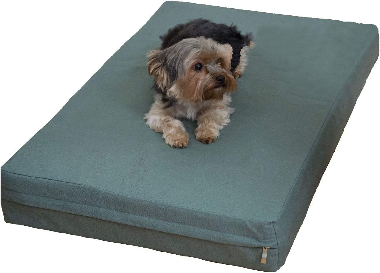 Premium Orthopedic Memory Foam Pet Bed Dog Bed with Durable Denim Zipper Cover and Waterproof Liner Free Bonus Replacement case