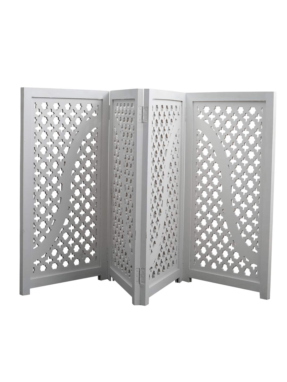 Artesia Freestanding Wood Pet Gate - 4 Panel Expansion Medium Size