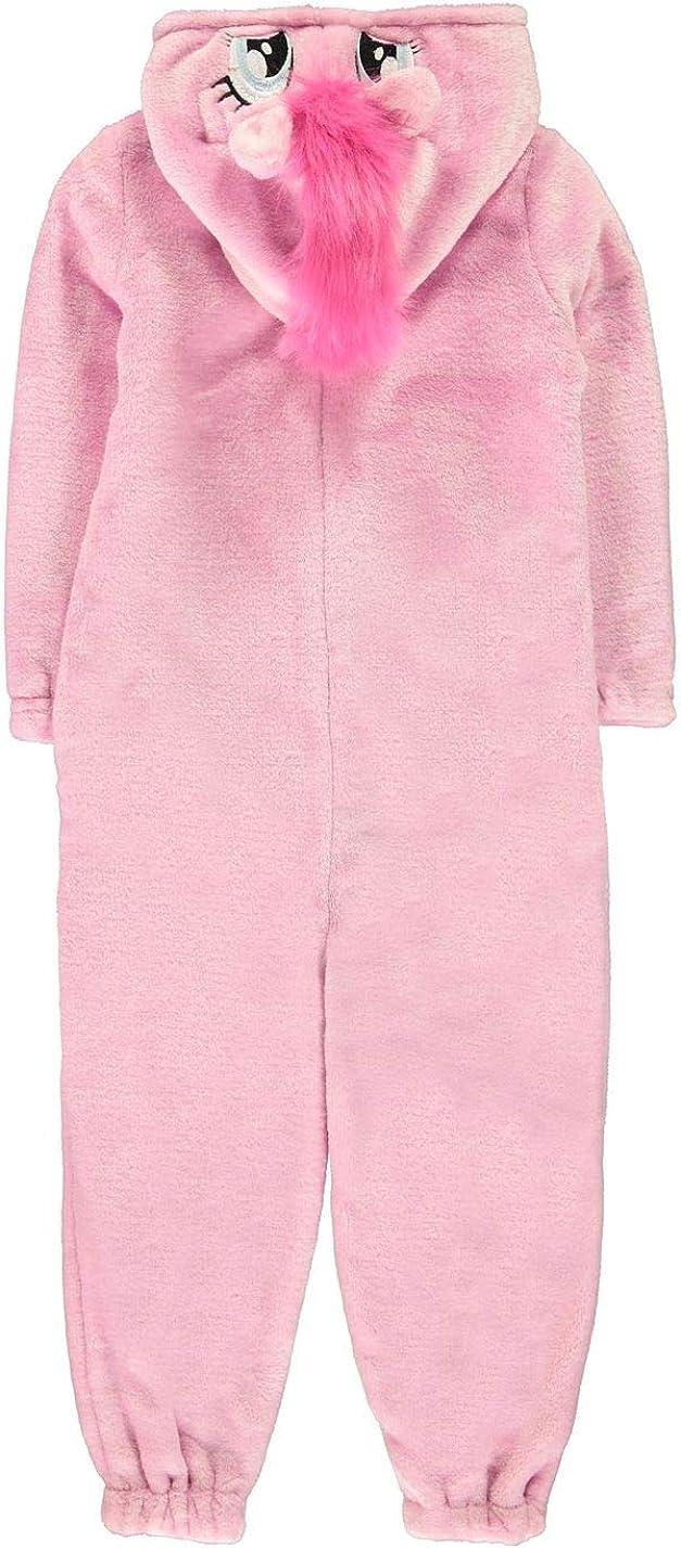 Character Onesie Childrens Kids Unicorn Nightwear Sleeper Lounge Clothing Pink