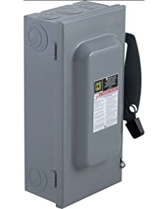 Square D by Schneider Electric D323N 100-Amp 240-Volt 3-Pole Fusible Indoor General Duty Safety Switch,