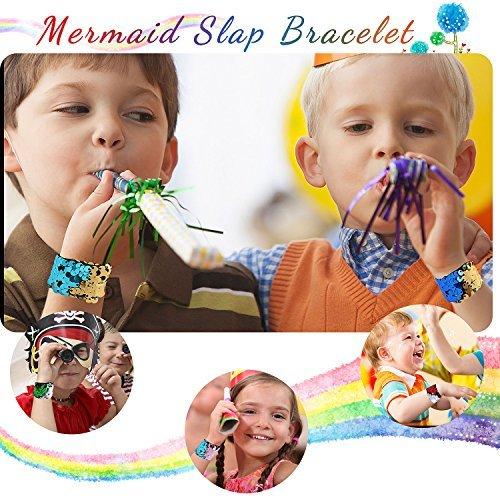 Sirena Slap pulsera lentejuela Defrsk 24 piezas lentejuela Slap pulsera 24 color Flip lentejuela pulsera sirena lentejuelas pulseras reversible sirena pulsera pulsera pulsera Slap pulsera para regalo