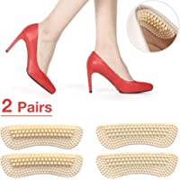 High Heel Inserts for Women, Make Shoe Fitter & Stop Heel Slipping Out (2 Pairs, 2mm&5mm Thickness respectively) Heel Liners, Heel Snugs, High Heel Pads Cushion (Beige)