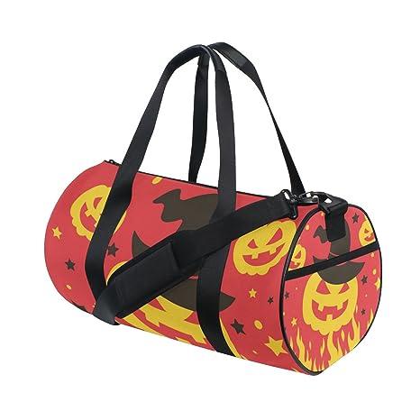 COOSUN Calabaza de Halloween en el fuego bolsa de lona del ...