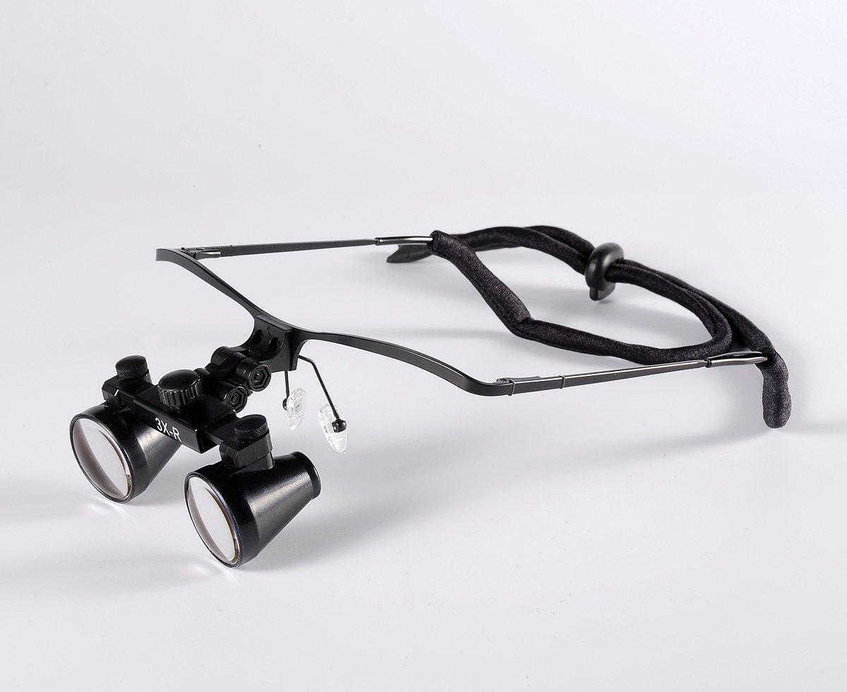 Songzi Optics (2.5x,3x,3.5x Optional) Half Frame Binocular Medical Surgical Dental Loupes (Magnification:3X, working distance:R(360 - 460 mm))
