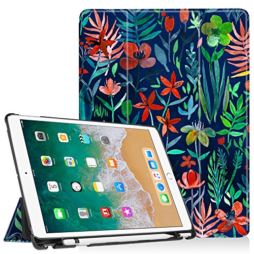 Fintie iPad Pro 10.5 Case with Built-in Apple Pencil Holder - [SlimShell] Ultra Lightweight Standing Protective Cover with Auto Wake/Sleep for Apple iPad Pro 10.5 Inch 2017 Tablet, Jungle Night